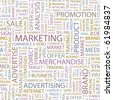 MARKETING. Seamless vector background. Wordcloud illustration. - stock photo