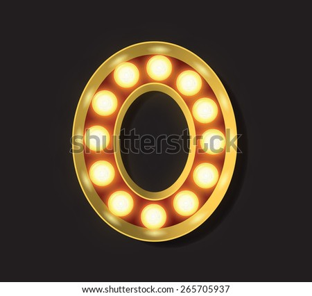 Marquee Light Letter - Vector - 0