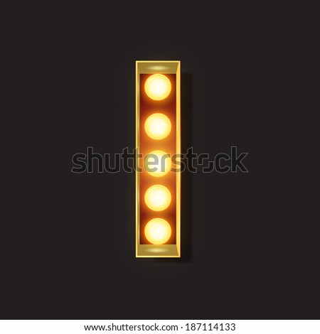 Marquee Light Letter - Vector - I