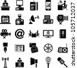 Mass Media Icons - stock vector