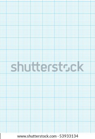 Math Concept Sheet Blue Graph Paper Stock Illustration