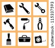 mechanic tools, instruments - stock vector
