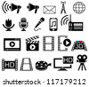 Media and Movie icons set. - stock vector