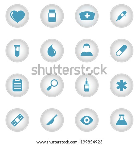 Medical gradient icons set 16 in 1