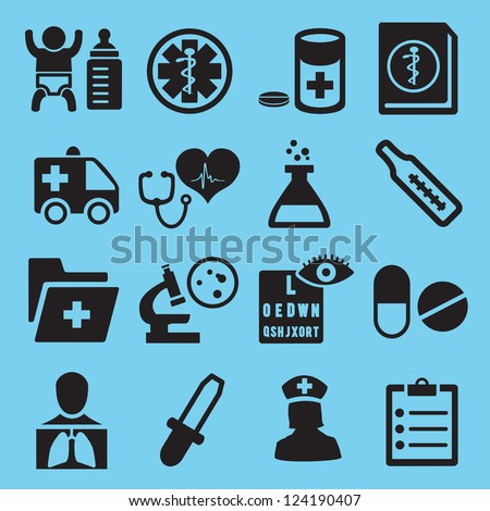 Medical icons for design - vector icons