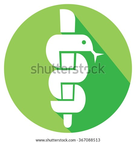 snake bowl medical symbol emblem drugstore stock vector