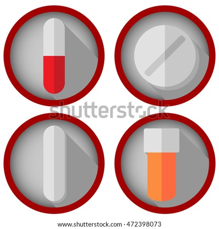 Medication Icons Set