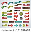 Mega collection of various ribbons - stock vector