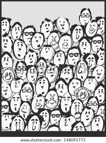 Men crowd -cartoon characters