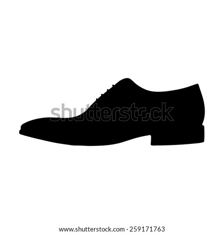 vector running shoe sneaker silhouette stock vector