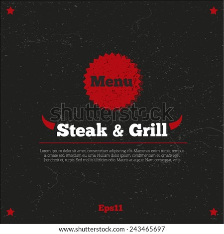 Menu, logo design, background for restaurant