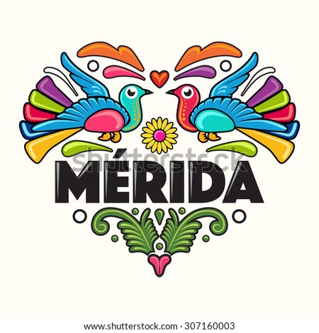 Merida Amate Heart Print - Illustration