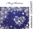 Merry Christmas,  card - stock vector