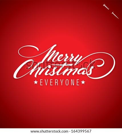 Merry Christmas Hand Lettering Custom Handmade Stock