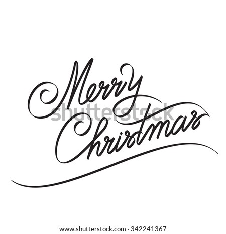 MERRY CHRISTMAS hand lettering -- handmade calligraphy, vector