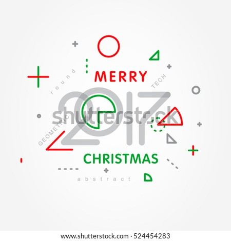 merry christmas 2017 numerals