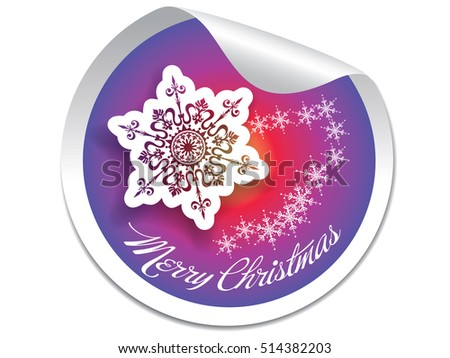 Merry Christmas Stickers.Vector