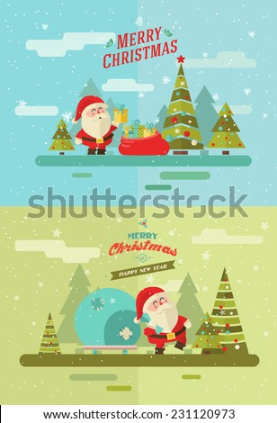 Merry christmas. vector winter background
