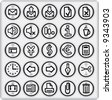 Metal Buttons, Business and Office (set4,part2) - stock vector