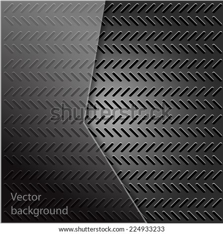 Metal texture with grid background. Vector illustration.