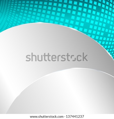 Metallic background with turquoise element
