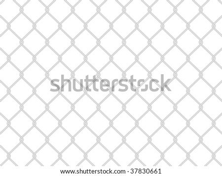 Metallic wire fence background. Vector illustration.
