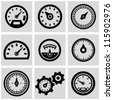 Meter icons set - stock vector