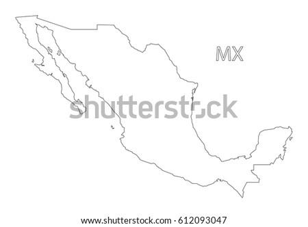 Mexico Map Major Mexican Cities Mexico Stock Vector ...