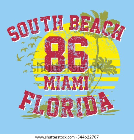 miami beach graphic design vector art