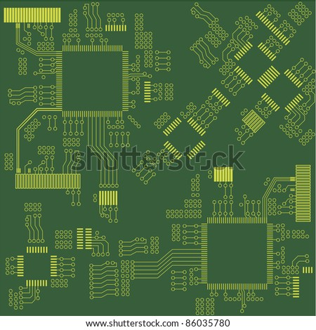 Microchip seamless background