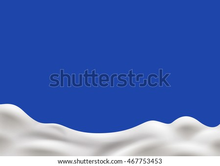 Milk background. Organic food, natural yogurt concept illustration. Vector