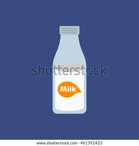 Milk bottle logo