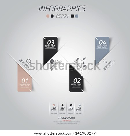 Minimal infographics design. Vector can be used for workflow layout, diagram, number options, web design.