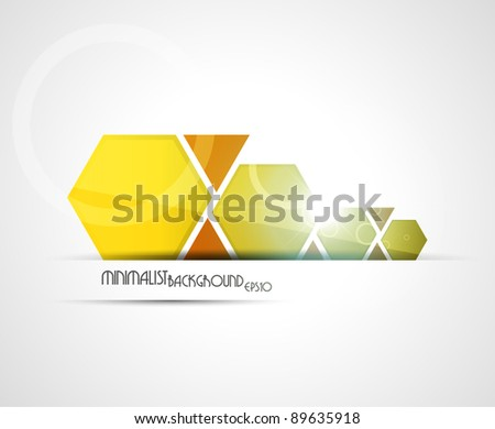 Minimalist background | combined colors. Vector illustration.