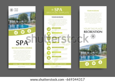 Minimalistic Spa Healthcare Design Brochure Flyer Stock Vector