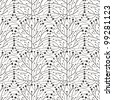 minimalistic tree seamless pattern illustration vector eps 10 - stock vector
