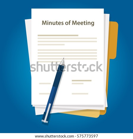 Minutes meeting document paper pen writing stock vector for Office design rules of thumb