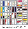 Mix Collection vertical and horizontal banners - stock vector
