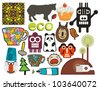 Mix of different vector images and icons. vol.56 - stock vector