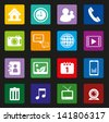 Mobile Phone Icons set Colorful Style - stock