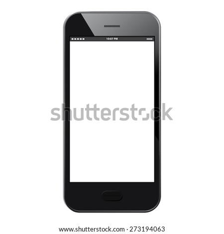 Mobile Phone Vector illustration - Black - Similar to iphone.