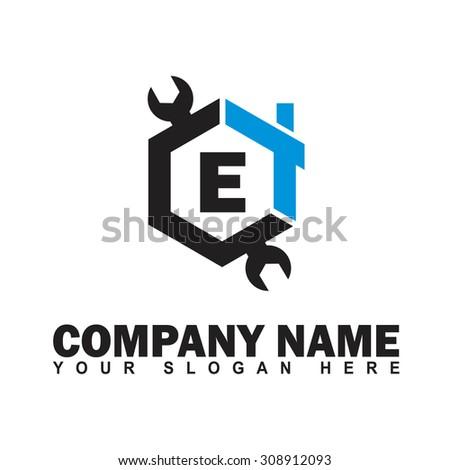 Modern stylish alphabetical logo design vector stock for Modern house logo