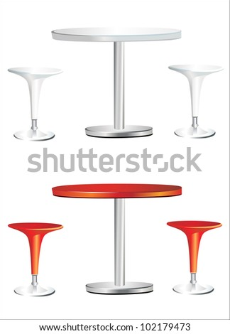 Modern Bar Table Two Chairs On Stock Vector 102179467