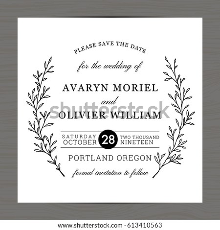 Save Date Wedding Invitation Card Template Vector 426272959 – Save the Date Card Template