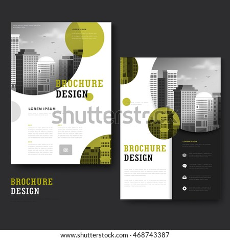 Annual Report Brochure Flyer Design Vector Stock Vector 462032437