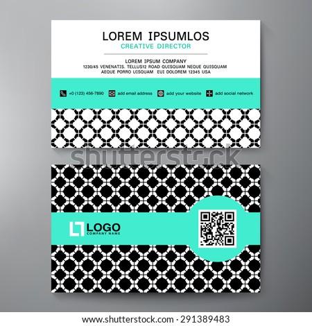 Business card template blue pattern vector stockvector 158661218 shutterstock - Ongewoon behang ...