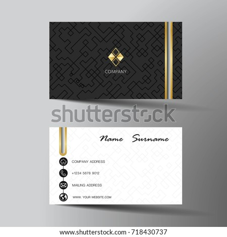 Modern business card template design inspiration stock vector modern business card template design with inspiration from the abstractntact card for company pronofoot35fo Images