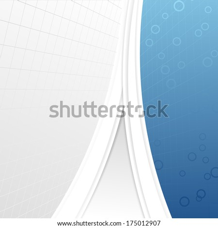 Modern business folder template - geometrical abstraction. Vector illustration