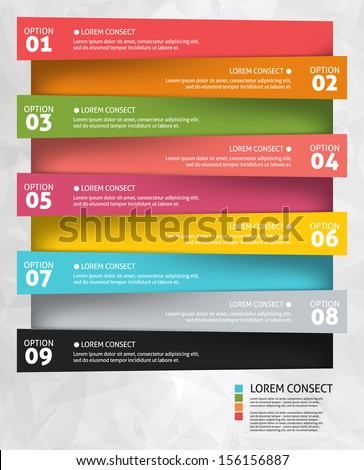 Modern business options banner. Vector illustration. Infographic and design