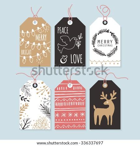 Modern Creative Christmas Greeting Card Design Stock